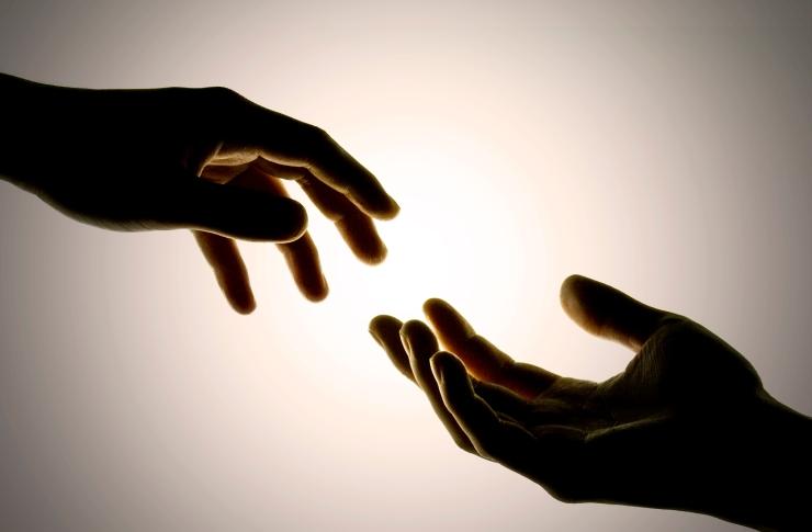 Gap between hands